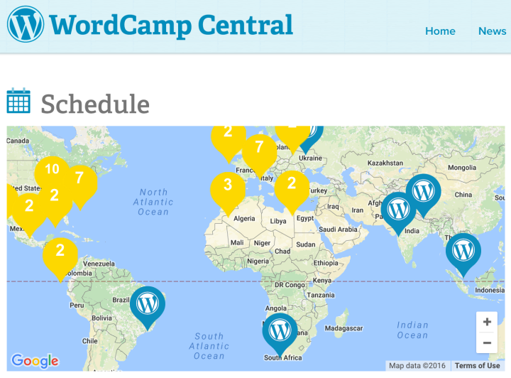 WordCamp Central Map