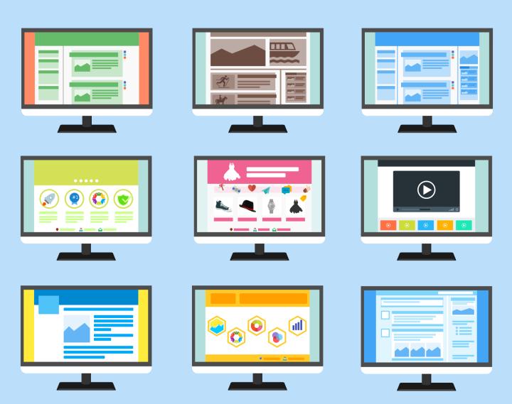 Exemplos diversos de layouts de sites