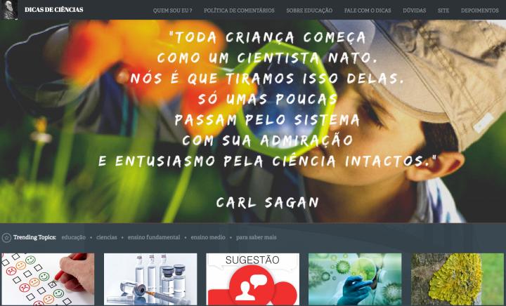 Screen Shot Dicas de Ciencia