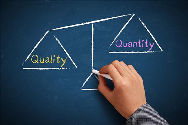 quantity-over-quality