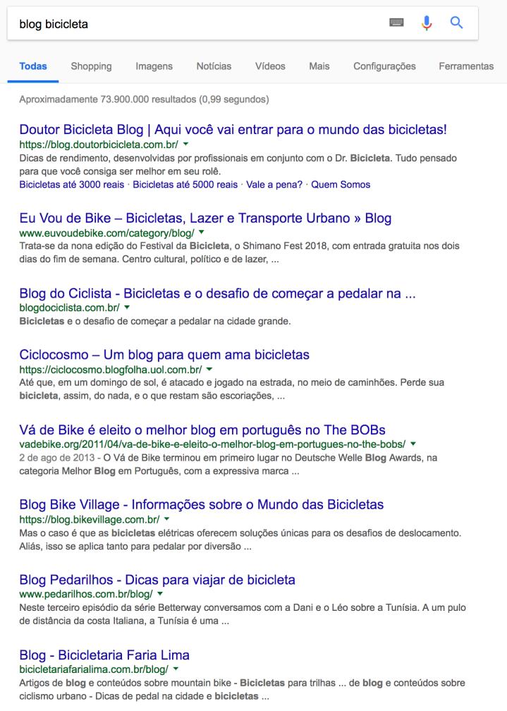 Blog Bicicleta